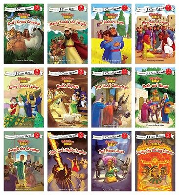 NEW Adventure Bible Set of 12 I Can Read David Miles Reading Level 2 Paperback