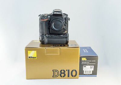 Nikon D810 with Pixel MB-D12 Battery Grip - Shutter Count 33177