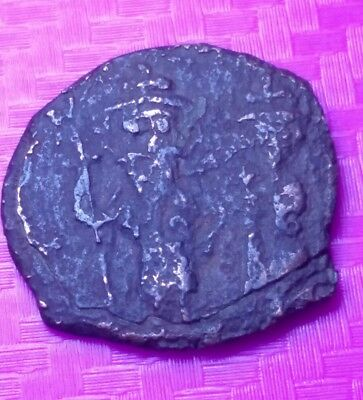 Ancient Byzantine Coin 705 AD Justin II & Sophia Very Rare High Grade  / N32