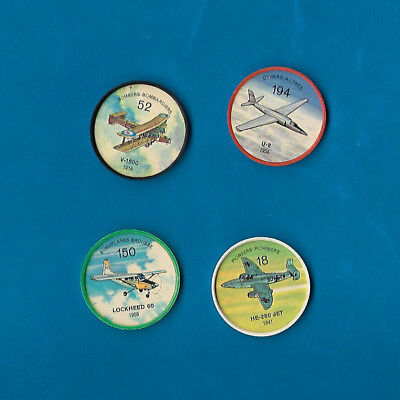 1960's Jello Airplane Coins Lot of 4  #s 18/52/150/194  NM-MT