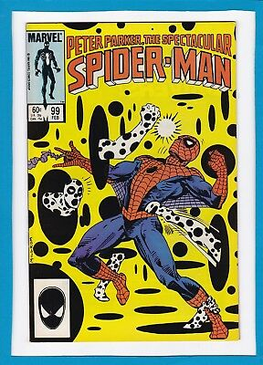 Peter Parker The Spectacular Spider-Man #99_February 1985_Very Fine+_The Spot!