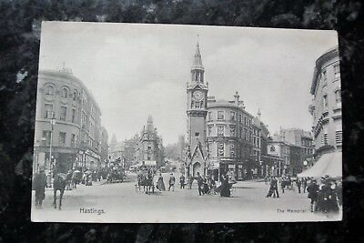 An old postcard of The Memorial, Hastings.  Posted 1904