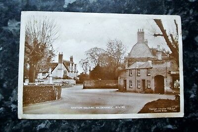 A Real Photo pc of Station Square, Mildenhall.  Posted 1940's
