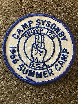 1966 Summer Camp Sysonby Troop 175 BSA Boy Scout Patch