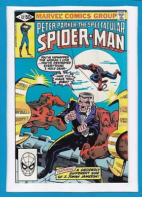 Peter Parker The Spectacular Spider-Man #57_August 1981_Vf/nm_Will O' The Wisp!