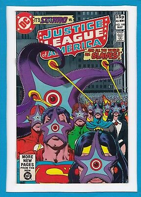 """Justice League Of America #190_May 1981_Vf+_Starro_""""all The World His Slaves""""_Uk"""