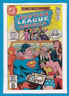 """Justice League Of America #187_Feb 1981_F/vf_""""the Fake Justice League""""_Uk!"""