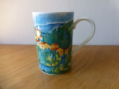 "One Dunoon Stoneware Mug ""provence"" Designed By J. Brookshaw  Made In Scotland"