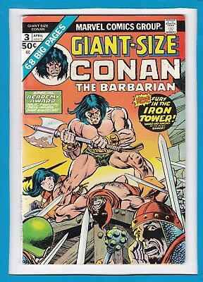 """Giant-Size Conan #3_April 1975_Very Good_""""fury In The Iron Tower""""_Bronze Age!"""