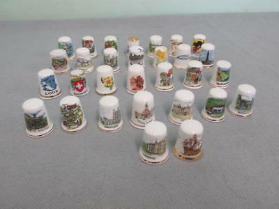 Joblot Bundle Of Assorted 30  Collectable Thimbles