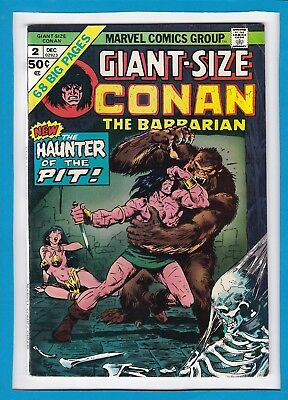 """Giant-Size Conan #2_December 1974_Very Good_""""the Haunter Of The Pit""""_Bronze Age!"""