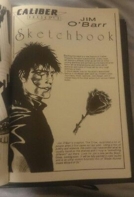 Caliber Presents #15 With Rare Unpublished James O'barr The Crow Sketchbook Art