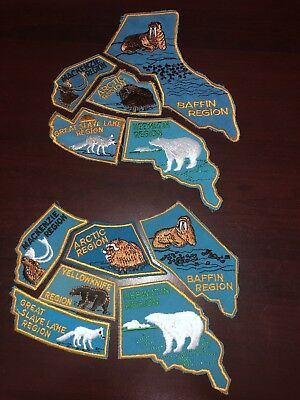 NWT Scouts Canada Region Map Badges