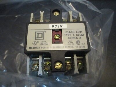 Square D 8501 X01200V02  Ac Control Relay Open Type 10 Amp ,12 N0,10 Nc Contacts