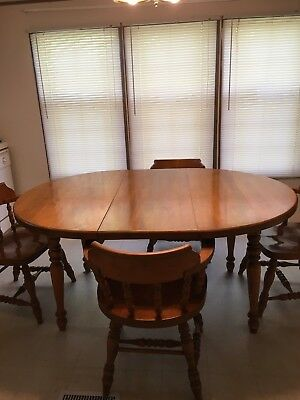 1960's Heavy Maple Dining Table