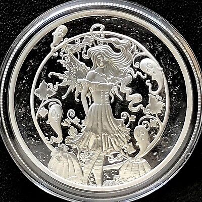 Amy Brown Collection - Haunted Pumpkin Patch 1 oz .999 Silver Proof Round Coin