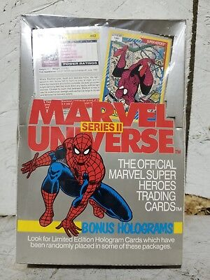 1991 Impel Marvel Universe Series II Super Hero Trading Cards New & Sealed
