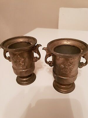 2 Old Silver Plate Small Goblets