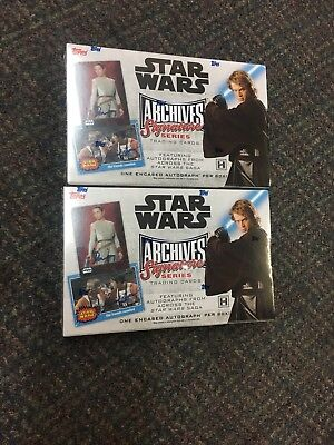 2018 Topps Star Wars Archives Signature Series Factory Sealed 2 HOBBY BOX LOT