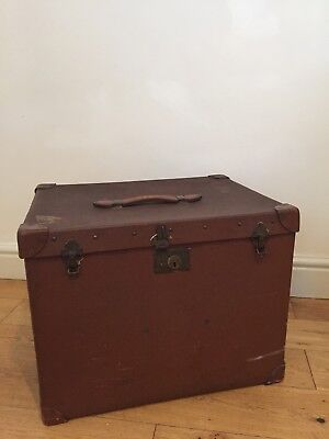 Hegaro Antique Steamer Trunk Case Birmingham Travel Lugagge Label Leather