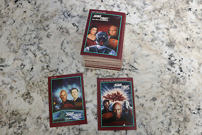 Impel 1991 Star Trek: The Next Generation trading cards lot of roughly 100