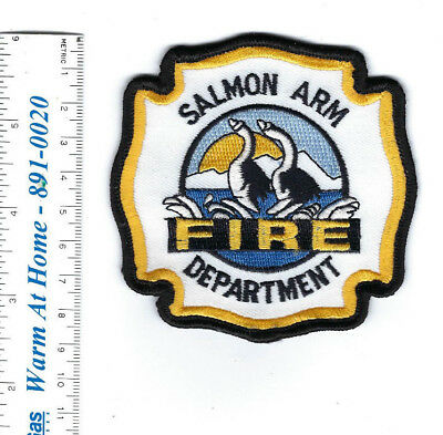 Salmon Arm BC British Columbia CANADA Fire Dept. patch - NEW!
