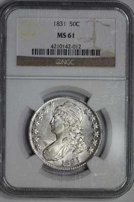 1831 Capped Bust Half Dollar MS61 NGC  50c US Mint Coin