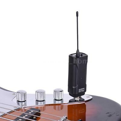 Portable UHF Wireless Audio Transmitter Receiver System for Guitar Bass Hot J1Y6