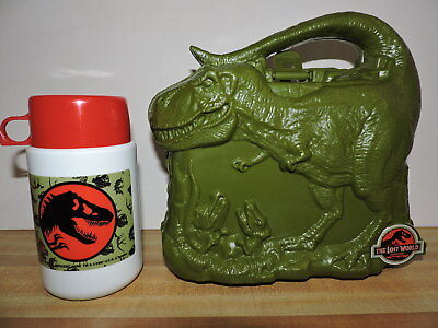 Jurassic Park Lost World Lunchbox w/ Thermos New
