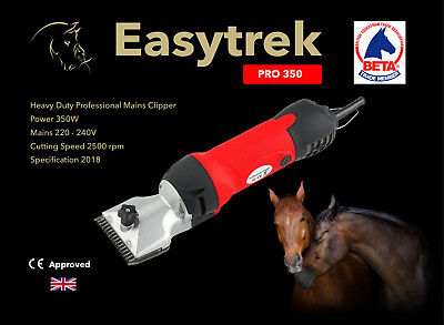 Easytrek 350 Pro horse clippers mains powered heavy duty yard clippers