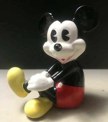 Disney Vintage Sitting  Mickey Mouse Porcelain Figurine