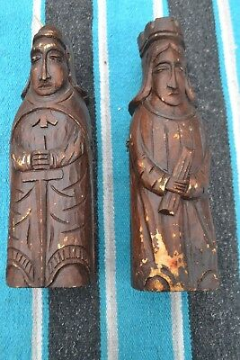 Antique/vintage Hand Carved Gothic Wood Wine Bottle Cases!