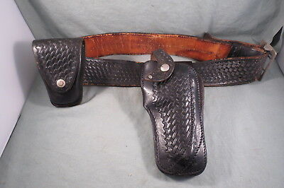 "Vintage Police Safety Speed Holster,Montebello,CA,On Mr.Man,El Monte 38"" Belt"