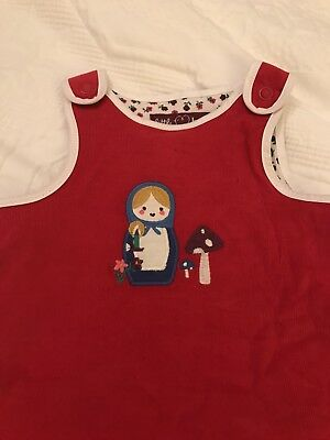 BNWT Little Bird by Jools Oliver Newborn Red Russian Doll Dress Xmas