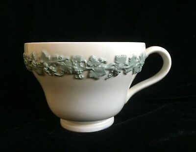 Wedgewood Queensware Grape Pattern Cups, Celadon on White