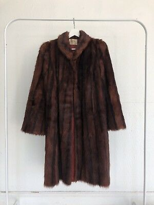 Vintage Genuine Red Mink Fur Coat Womens - Perfect Condition