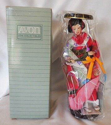 Vintage Avon 1990 Masako From Japan Porcelain Doll Collection - NIB