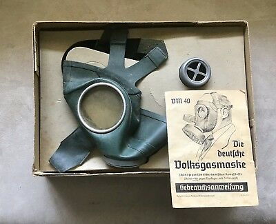 Ww2 German Gas Mask With Genuine Box And Papers !! Fully Marked!! Rare!!