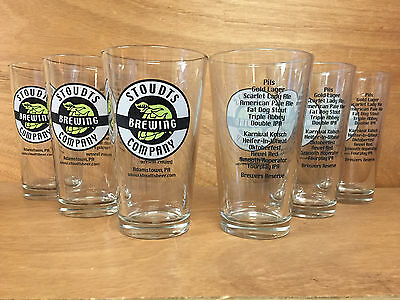 Stoudts Stoudt's Brewing Company 16oz. Pint Glasses - Set of 6 - New