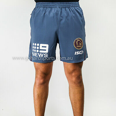 Brisbane Broncos 2018 NRL ISC Steel Adults Training Shorts (Sizes S - 2XL)