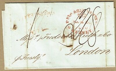 """New South Wales 1840 cover per """"Trusty"""" Sydney-London"""