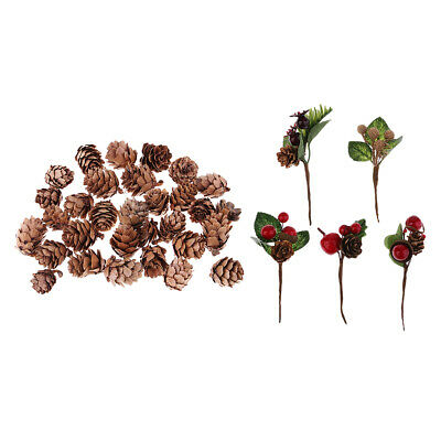 35pcs Artificial Dried Pinecones Home Table Ornaments Christmas Decorations