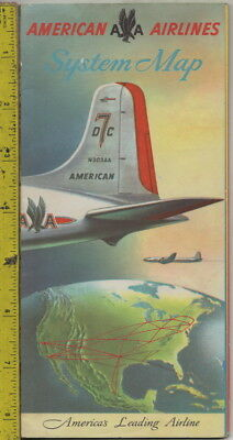 I have a c1950s American Airlines System Maps brochure DC 7