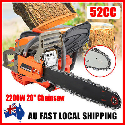 52cc PETROL CHAINSAW 20 inch BAR 2-STROKE OREGON CHAIN SAW Pruning Chain Saw