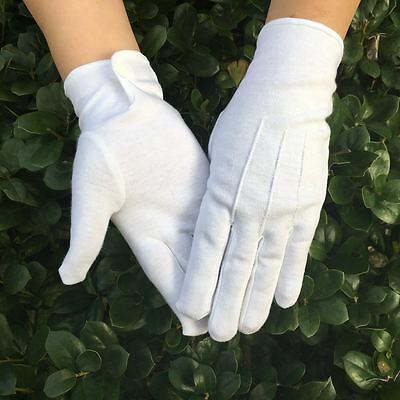 Hot sell Good Quality 100% Cotton White Masonic Gloves Mason Freemason