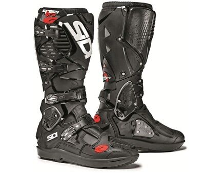 Sidi Crossfire 3 SRS Boots Black Size 10 Motocross ATV Motorcycle Riding