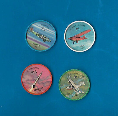 1960's Jello Airplane Coins Lot of 4  #s 15/79/127/193 NM-MT