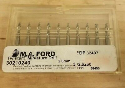 (10 Pack) M.A.FORD 2.6MM Carbide Twister Drill (30210240)