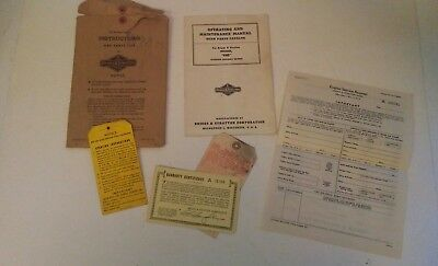 "Vintage Briggs & Stratton Operating & Maintenance Manual - Model ""WMB"""