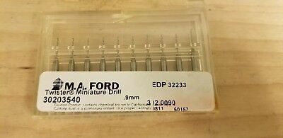 (10 Pack) M.A. Ford .9MM Carbide Twister Drill (30203540)